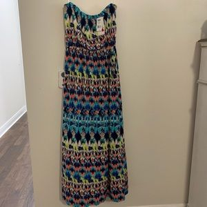 NWT XL multi color Maxi Dress